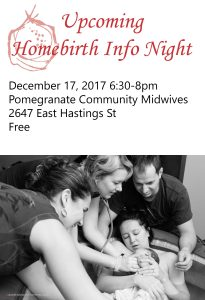 Homebirth Info Night @ Pomegranate Community Midwives